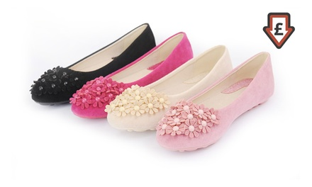 Women's Daisy Ballet Pumps in Choice of Colour