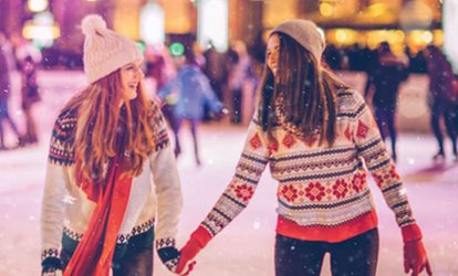 image for Ice Skating with Skate Hire for Up to Four at Champneys Eastwell Manor (Up to 60% Off)