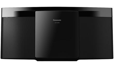 Sistema mini stereo Hi-Fi Panasonic SC-HC200EG-K con lettore CD e supporto MP3