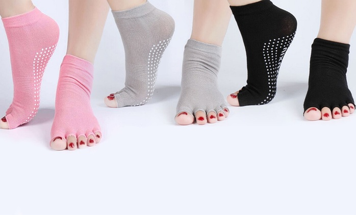 Five-Pack of Yoga Socks, Yoga Leggings, Sports Bra, or Yoga Kit from AED 49 with Free Delivery (Up to 75% Off)