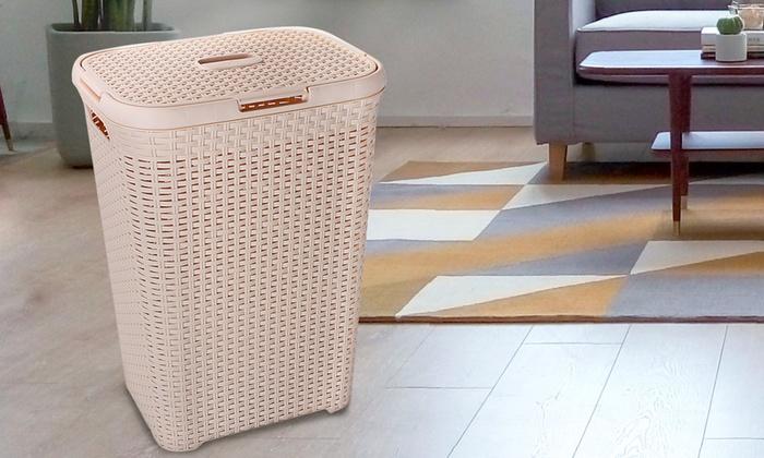 60L Plastic Laundry Hamper