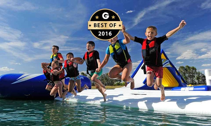 Cables Aqua Park - Cables Wake Park: Cables Aqua Park Experience - One ($15) or Two Sessions ($25), or a Full-Day Pass ($35), Penrith (Up to $45 Value)