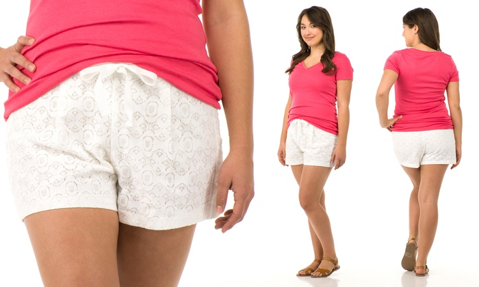 Sociology Womens Plus Size Lace Shorts Groupon Exclusive Size 2x