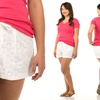 Sociology Women's Plus Size Lace Shorts   Groupon Exclusive (Size 2X)