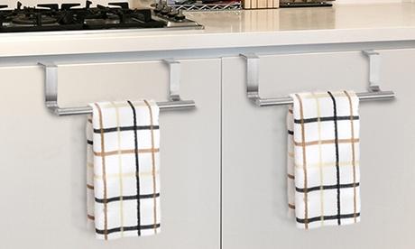 Hasta 6 barras colgantes para toallas de cocina