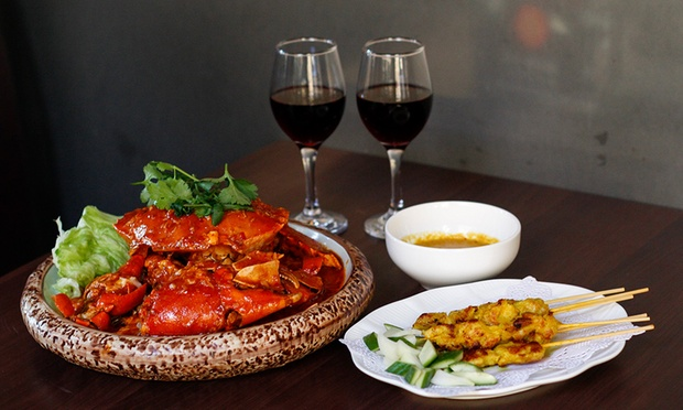 Malaysian 1kg of Crab and Wine for Two ($69) or Four ($99) at Jonker Walk Malaysian Restaurant & Bar (Up to $157 Value)