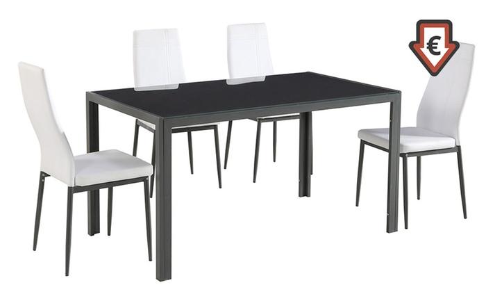 Set tavolo e sedie chennai groupon goods for Tavolo groupon