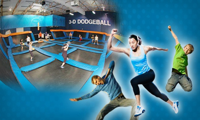 Sky Zone Indoor Trampoline Park - Sky Zone Torrance: Two One-Hour Passes or One Jump Around Package for 10 at Sky Zone Indoor Trampoline Park in Gardena (Up to Half Off)