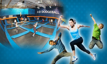 Two One-Hour Jump Passes with Shoe Rental  - Sky Zone Indoor Trampoline Park in Gardena
