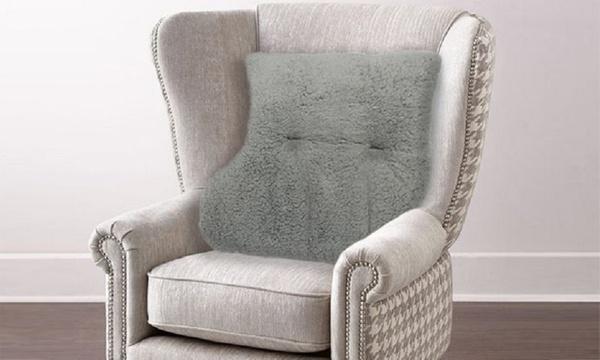 Downland Fluffy Fleece Back Rest Pillow