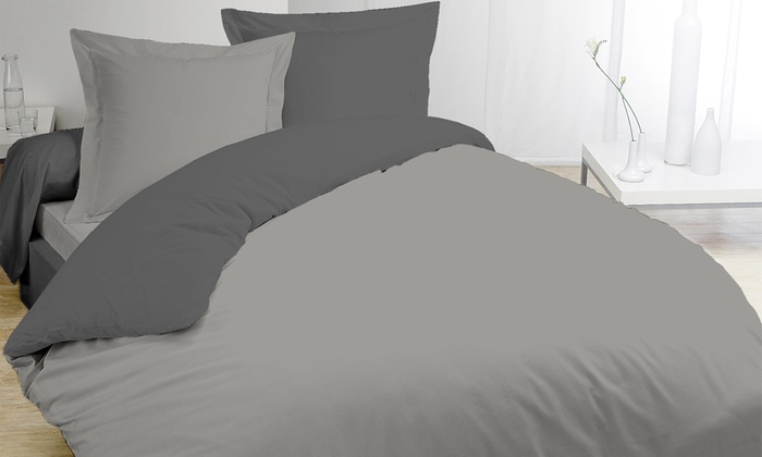 parures de lit en coton groupon. Black Bedroom Furniture Sets. Home Design Ideas