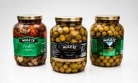 Desde $219 en vez de $355 por frasco de pickles o de aceitunas verdes Nucete a elección para retirar en sucursal