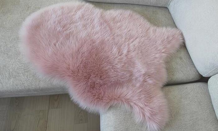 Washable Faux Fur Rug Groupon