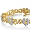 Clearance: 18K Gold Plated Diamond Accent MOM Bracelet