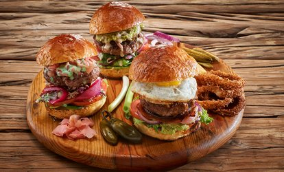 Choice of Burger with Muffin and Soft Drink for Up to Four at Mugg & Bean (Up to 52% Off)