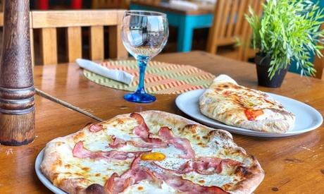 Menú italiano con entrante, principal, postre y vino para 2 o 4 personas en La Forchetta 57%