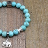 Turquoise with Tibet Silver Charm and Third Eye Stainless Steel Tag