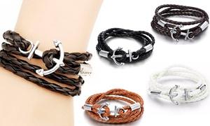 Bracelet à breloques avec ancre