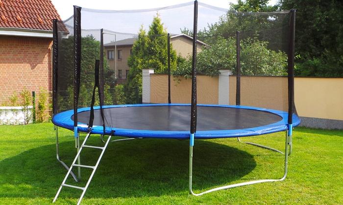 letix trampolines 250 430 cm groupon goods. Black Bedroom Furniture Sets. Home Design Ideas
