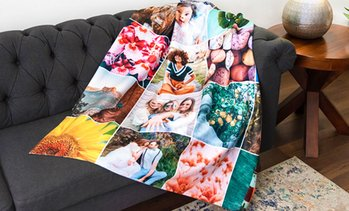 Up to 93% Off Personalized Photo Blankets from Collage.com