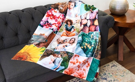Personalized Fleece Photo Blankets from Collage.com (Up to 93% Off). Eight Options Available.