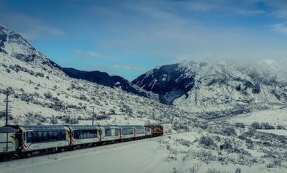 South Island: One Adult Ticket for a TranzAlpine Return Rail Trip with One or Two Night Stay