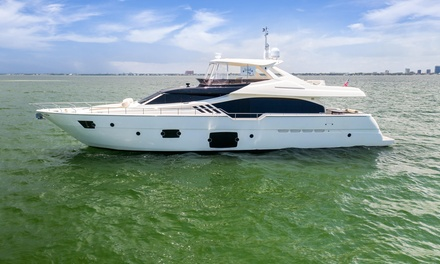 Four-Hour Captained Yacht Rental on the Ferretti 90' or Van Dutch 55' from Yacht Kings Charters (Up to 26% Off)