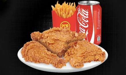 Menú Chicken Broaster para 2 o 4 personas desde 9,90 € en PCB 5 locales