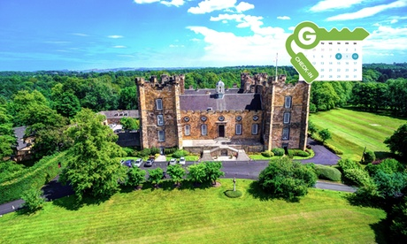 Co. Durham: Double Room for Two with Breakfast, Dinner, Wine and Late Check-Out at 4* Lumley Castle Hotel