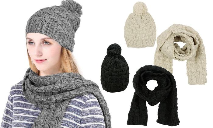 d8f03a62cf5 Ensemble écharpe   bonnet 100% coton