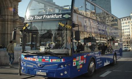 Hop-on-Hop-off-Stadtrundfahrt in Frankfurt am Main für 1, 2 od. 4 Personen mit ETS Edeltraud Sehr To