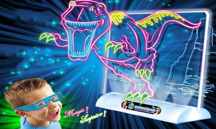 Magic 3d Dinosaur Drawing Board Groupon Goods