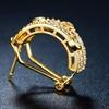 18K Gold Plated Half-Hoop Earrings with Swarovski Elements Crystals