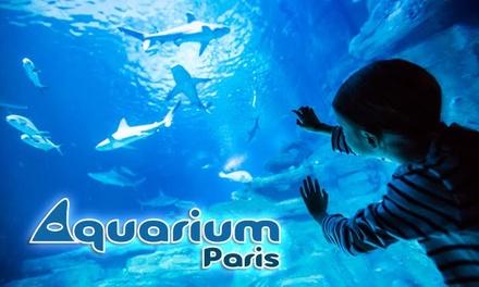 1 visite nocturne pour enfant(s) et/ou adulte(s) avec coupe de champagne ou soft dès 14 € à l'aquarium de Paris