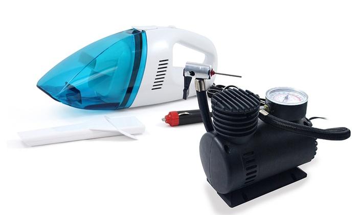 pack compresseur d 39 air et aspirateur voiture groupon shopping. Black Bedroom Furniture Sets. Home Design Ideas