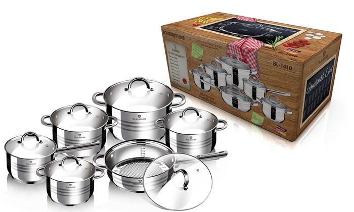 Bater a de cocina de 12 piezas jumbo groupon - Bateria de cocina solingen 12 piezas ...