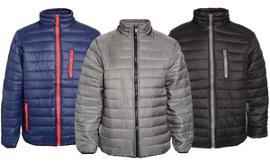 Men's Puffer Jacket with Detachable Hood