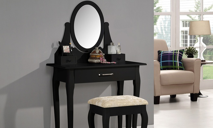Ella, Rose or Lilly Dressing Table and Footstool With Free Delivery (Up to 63% Off)