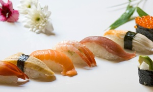 Goldene Kugel: Mongolisches Grillbuffet und Sushi All-you-can-eat oder Sushi-Platte für Zwei in der Goldenen Kugel (bis zu 44% sparen*)