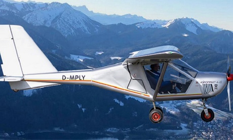 Rundflug 2-4,5 Std. Selber-Fliegen im Ultraleichtflugzeug für 1 Pers. mit Rundflug Bayern