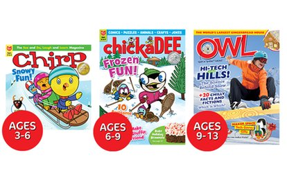 image for One-Year Subscription to Kids' Magazine for Ages 3–13 from Owlkids (Up to 34% Off)