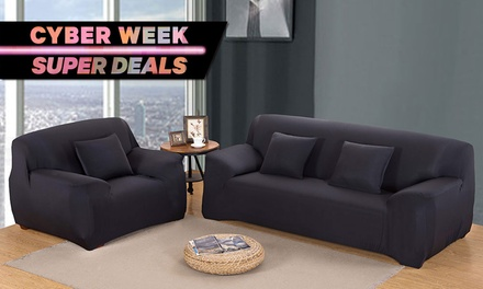 Stretchable Sofa Cover: Single-Seater ($25), Two-Seater ($29), Three-Seater ($35) or Four-Seater ($39)