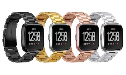 Stainless Steel Replacement Band for Fitbit Versa: One $15 or Two $25