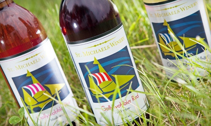 St. Michaels Winery - St. Michaels Winery: Wine-Tasting Package with Food for Two or Four at St. Michaels Winery (Up to 61% Off)
