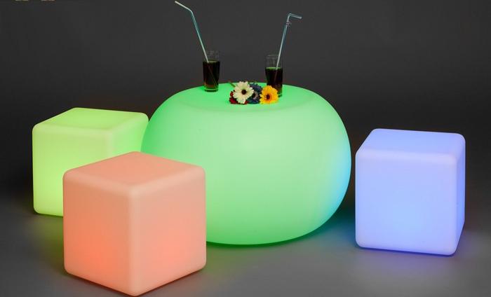Led multicolor meubilair groupon goods - Poef mouton ...