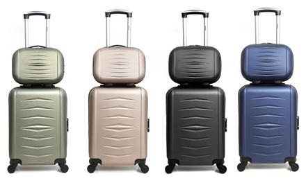Vanity case et valise cabine en ABS, coloris au choix