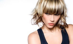 Bozzie Hair Design & Spa: Haircut with Optional Basic Color, or Partial or Full Highlights at Bozzie Hair Design & Spa (Up to 51% Off)