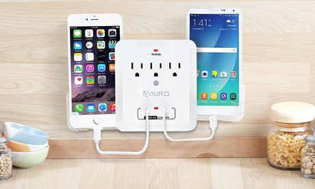 Aduro Surge Dual-USB Charging Station and Surge Protector with Phone Holders (1- or 2-Pack) a00c3c56-e9a8-11e6-a781-00259069d868