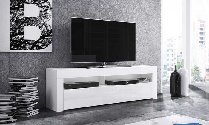 meuble tv avec ou sans led groupon shopping. Black Bedroom Furniture Sets. Home Design Ideas