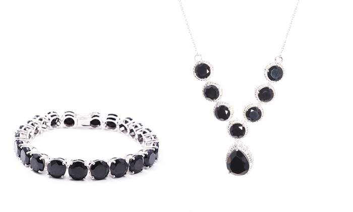 Black-Spinel Jewelry: Black-Spinel Bracelet or Necklace. Free Shipping and Returns.